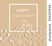 template. valentines day... | Shutterstock .eps vector #544254934