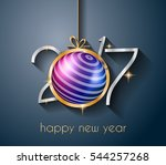 2017 happy new year background... | Shutterstock .eps vector #544257268