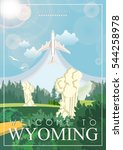 Wyoming Vector American Poster...