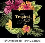 postcard tropical night | Shutterstock .eps vector #544263808