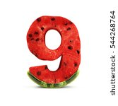 watermelon numbers isolated on... | Shutterstock . vector #544268764