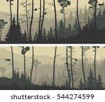 set of horizontal wide banners...   Shutterstock .eps vector #544274599