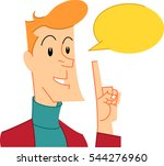 businessman with speech balloon.... | Shutterstock .eps vector #544276960