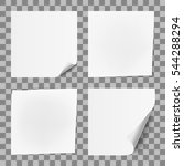 white paper sticker note memo... | Shutterstock .eps vector #544288294