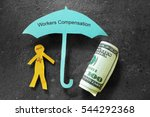 injured paper man with money ... | Shutterstock . vector #544292368