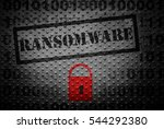 Ransomware Text With Red Lock ...
