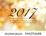happy new year 2017 text on... | Shutterstock . vector #544293688