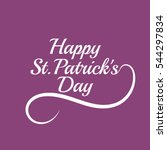saint patricks day card design... | Shutterstock .eps vector #544297834
