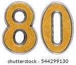 metal numeral 80  eighty ...   Shutterstock . vector #544299130