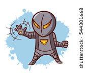 superhero boy iron sticker... | Shutterstock .eps vector #544301668