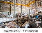 rusty scrap metal piled | Shutterstock . vector #544302100