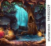 vector cartoon illustration of... | Shutterstock .eps vector #544302229