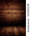 empty wooden interior room. | Shutterstock . vector #544303198
