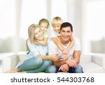 happy family on sofa. | Shutterstock . vector #544303768