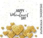 happy valentine day festive... | Shutterstock .eps vector #544309360