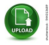 upload  document icon  glassy...   Shutterstock . vector #544313689