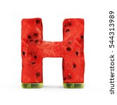 watermelon alphabet isolated on ... | Shutterstock . vector #544313989