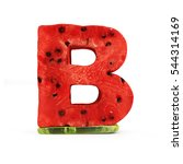 Watermelon Alphabet Isolated O...