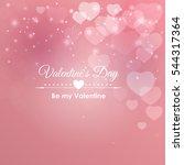 valentine's day heart symbol.... | Shutterstock .eps vector #544317364