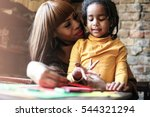 portrait of a young african... | Shutterstock . vector #544321294