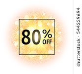 sale banner 80 percents off on... | Shutterstock . vector #544329694