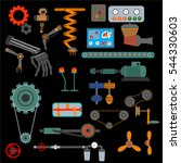 parts of machinery flat icons... | Shutterstock .eps vector #544330603