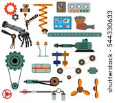 parts of machinery flat icons... | Shutterstock .eps vector #544330633