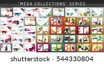 mega collection of 100 business ... | Shutterstock . vector #544330804