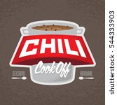 chili cook off logo | Shutterstock .eps vector #544333903