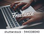 freelance  business concept | Shutterstock . vector #544338040
