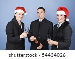 business people celebrating... | Shutterstock . vector #54434026