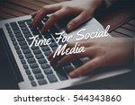 time for social media  business ... | Shutterstock . vector #544343860