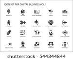 digital business vector icon set | Shutterstock .eps vector #544344844