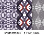 set of 3 abstract patterns.... | Shutterstock .eps vector #544347808