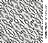 black and white vector seamless ... | Shutterstock .eps vector #544348654