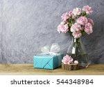 pink carnation flowers in...   Shutterstock . vector #544348984