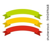 red  yellow  green ribbons icon.... | Shutterstock .eps vector #544349668