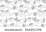 vector   leaf pattern | Shutterstock .eps vector #544351798