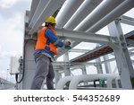 a male worker doing a... | Shutterstock . vector #544352689