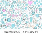 hand drawn seamless pattern of... | Shutterstock .eps vector #544352944