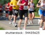 marathon  motion blur  bib... | Shutterstock . vector #54435625
