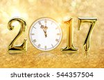 2017 happy new year background... | Shutterstock . vector #544357504
