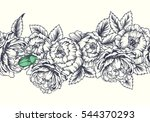 vector floral seamless border.... | Shutterstock .eps vector #544370293