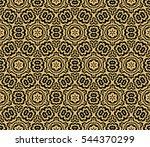 black floral creative geometric ...   Shutterstock . vector #544370299