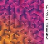 geometric polygonal background. ... | Shutterstock .eps vector #544372798