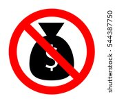 no money bag sign illustration.