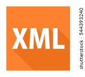 xml file format and extension | Shutterstock .eps vector #544393240