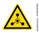 chemical weapon sign  stock... | Shutterstock .eps vector #544396564