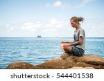 young man with dreadlocks... | Shutterstock . vector #544401538