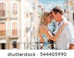 couple walking in the city of... | Shutterstock . vector #544405990